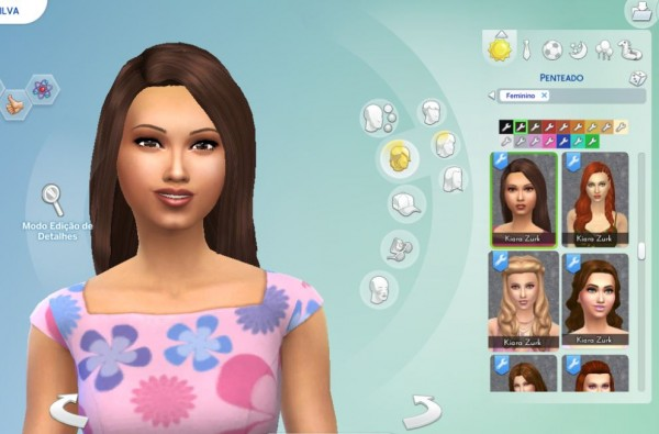 Mystufforigin: Straight hair for Sims 4