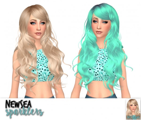 Nessa sims: Newsea`s Millet, Ramya and Sarklers hairs retextured for Sims 4