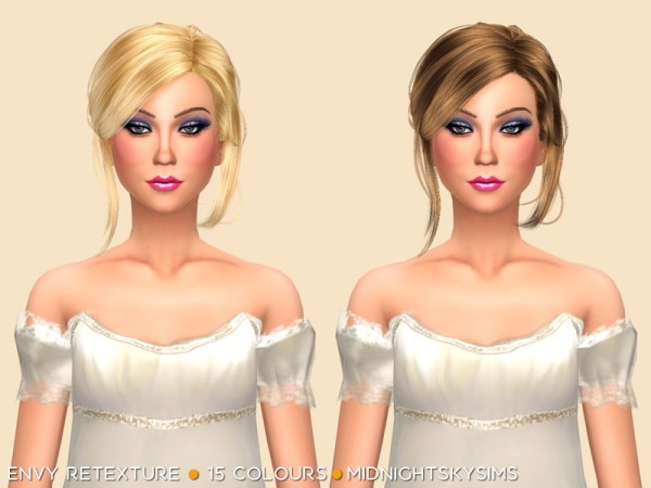 Simsworkshop: Stealthic`s Envy hair retextured by midnightskysims for Sims 4