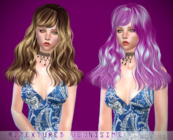 Jenni Sims: Skysims 021, 066 Hairs retextured for Sims 4