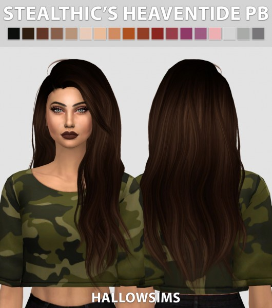 Hallow Sims: Stealthic's Heaventide Pushed Back hair for Sims 4
