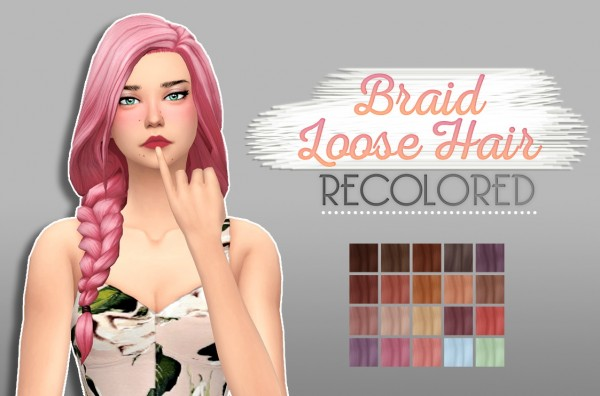Whoohoosimblr: Braid Loose for Sims 4