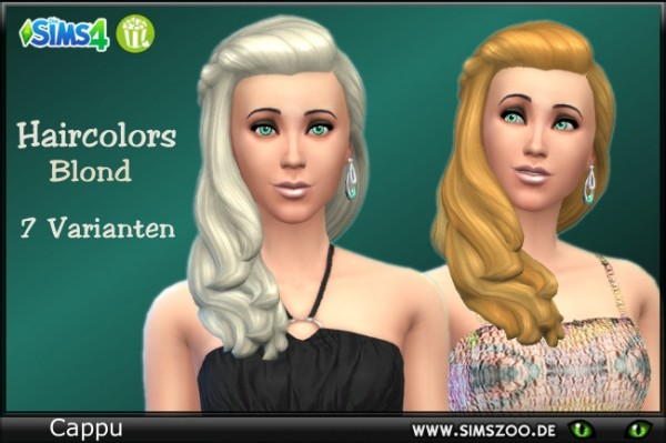 Blackys Sims 4 Zoo: Hair Color Blond by Cappu for Sims 4