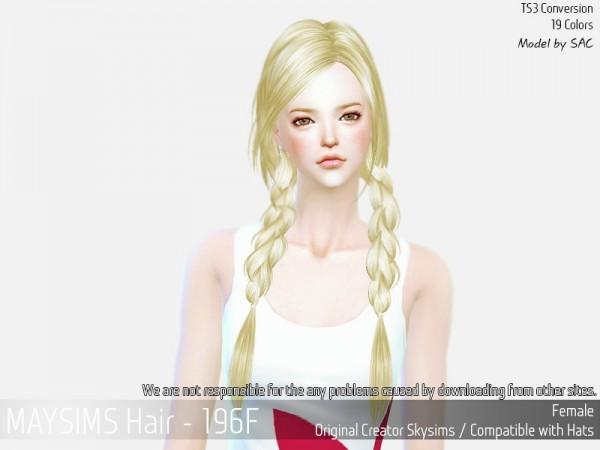 MAY Sims: May 196F hair converted for Sims 4