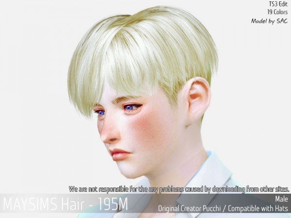MAY Sims: May 195M hair converted for Sims 4