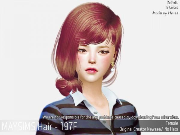 MAY Sims: May 197F hair converted for Sims 4