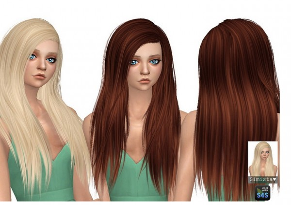 Simista: Misery Hair Retextured for Sims 4