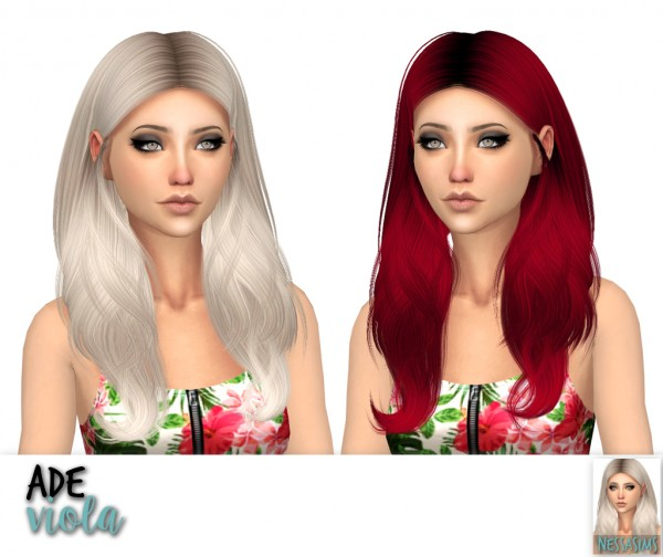 Nessa sims: Ade Darma`s Alena, Kylie and Viola hairs for Sims 4