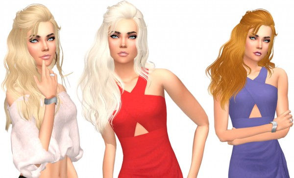 Sims Fun Stuff: Skysims 087 Hair Retextured for Sims 4