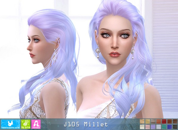 NewSea: J105 Millet hair for Sims 4