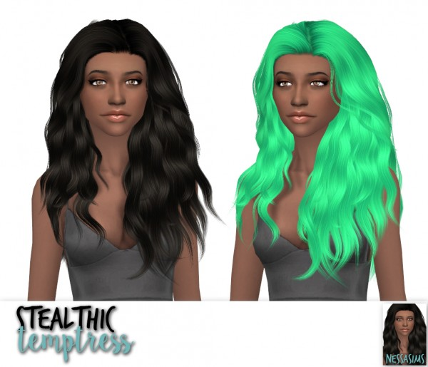 Nessa sims: Stealthic`s Baby Doll, Summer Haze and Temptress hairs for Sims 4