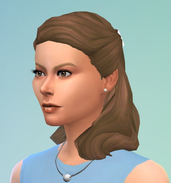 Birksches sims blog: Ingrid B. Hairstyle for Sims 4