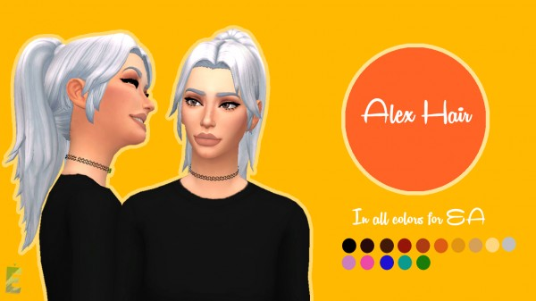 Enrique: Alex hair for Sims 4