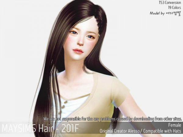 MAY Sims: May Hair 201F for Sims 4