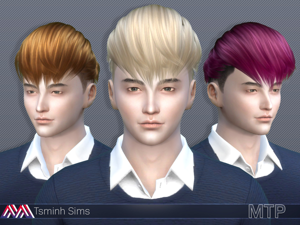 The Sims Resource: Hair 14 by tsminh3 for Sims 4