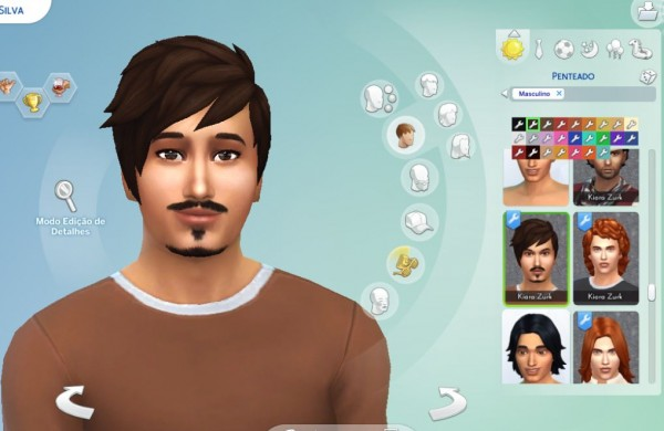 Mystufforigin: Long Front Messy hair for Sims 4