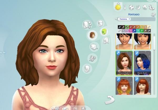 Mystufforigin: Mid Wavy Bob hair for girls for Sims 4