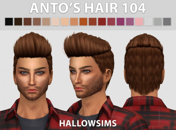 Hallow Sims: Male hair pack for Sims 4