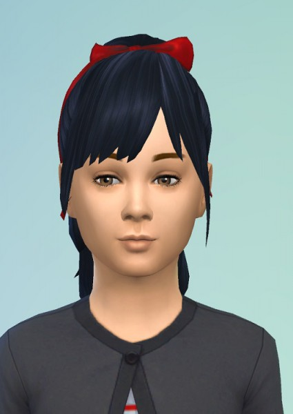 Birksches sims blog: Pony bow & Bangs hair for Sims 4