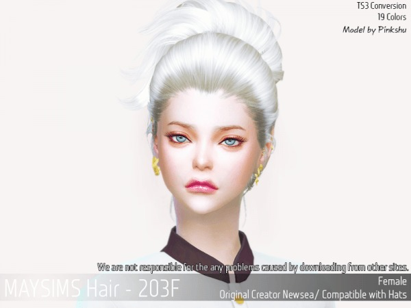 MAY Sims: May 203F hair retextured for Sims 4