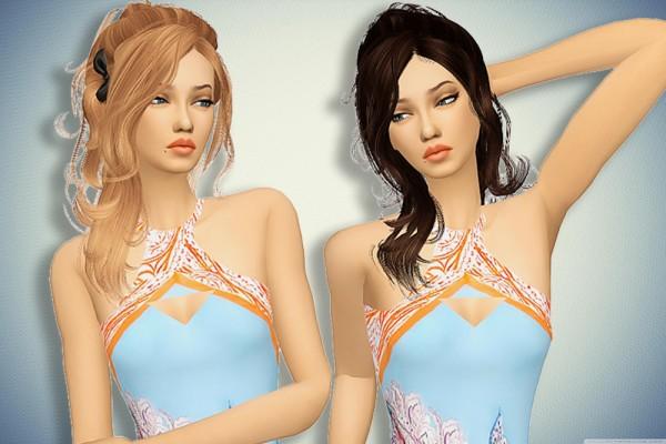 Pllumbobbilypixels: Newsea`s Vera hair retextured for Sims 4