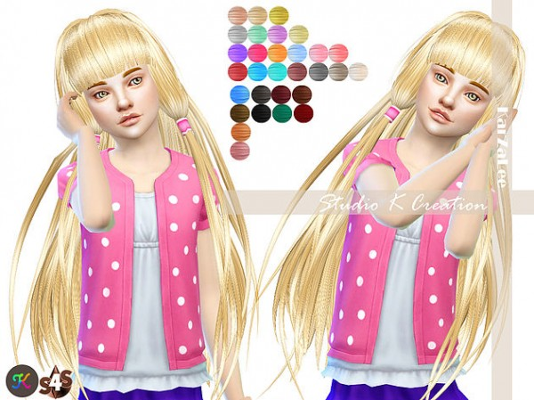 Studio K Creation: Animate hair 59 Chobits for girls for Sims 4