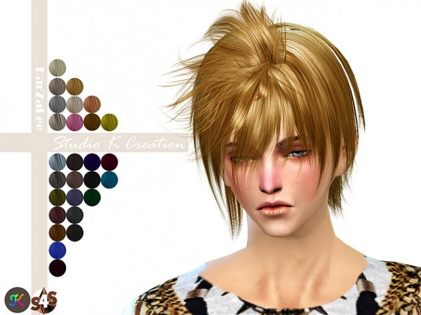 Studio K Creation: Animate hair 63   KUGA for Sims 4