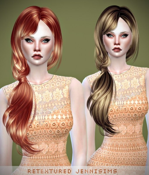 Jenni Sims: Newsea`s Barbara hairstyle retextured for Sims 4
