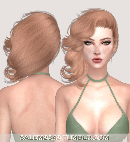 Salem2342: Stealthic`s Vivacity hair retextured for Sims 4