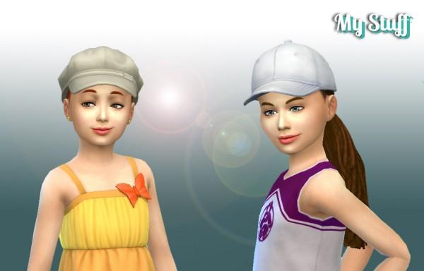 Mystufforigin: Braid Tied hair for girls for Sims 4