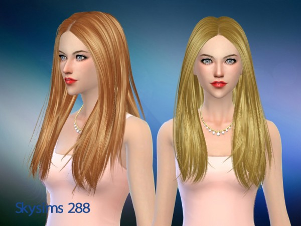 Butterflysims: Hair 288 by Skysims for Sims 4
