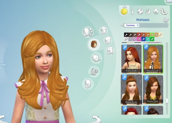 Mystufforigin: Cazy Starlight Hairstyle Conversion for Sims 4