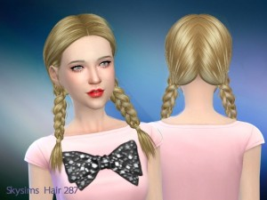 Butterflysims: Una 287 hair by Skysims for Sims 4