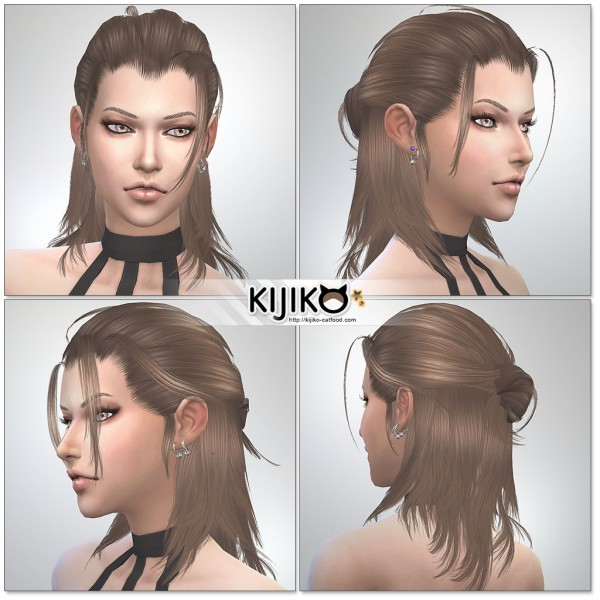 Kijiko Sims: Toyger Kitten hair 019 converted from TS3 for Sims 4