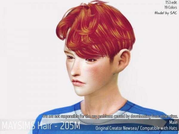 MAY Sims: May Hair 205M hair retextured for Sims 4