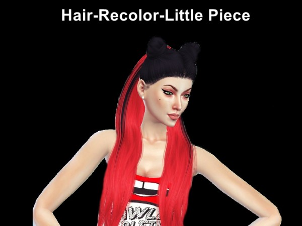 The Sims Resource: LeahLillith`s Little Piece Hair Recolored by Naddiswelt for Sims 4
