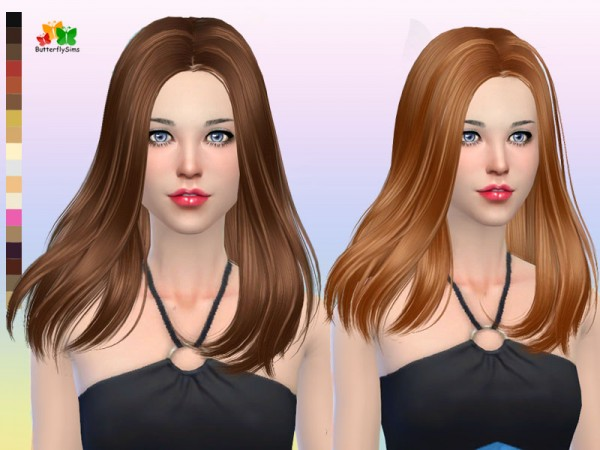 Butterflysims: Hair 165 NO hat for Sims 4