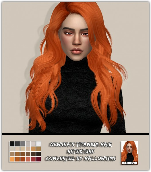 Simsworkshop: Titanium Hair Retextured by maimouth for Sims 4