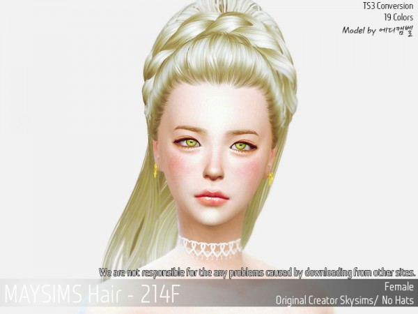 MAY Sims: May 214M hair retextured for Sims 4