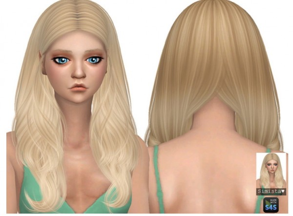 Simista: Viola hair retextured for Sims 4