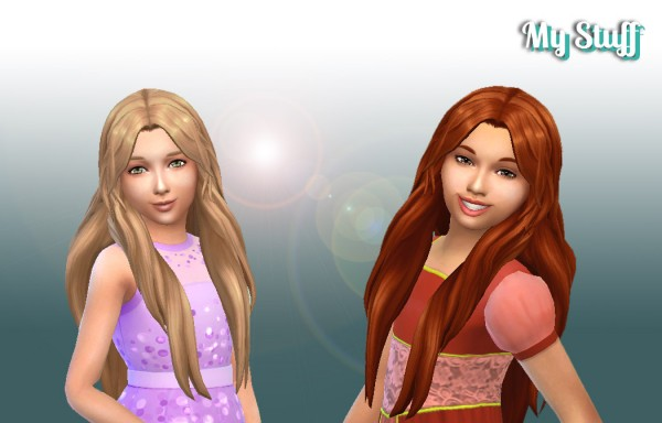 Mystufforigin: Enchanted Hairstyle for Girls for Sims 4