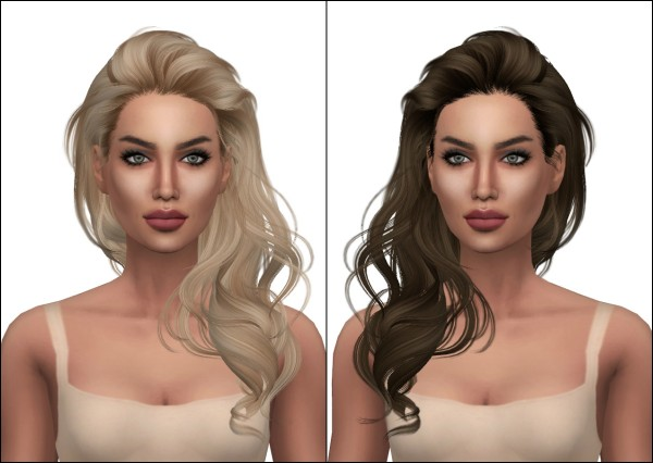 Kenzar Sims: Newsea`s Millet Hair Retextured for Sims 4