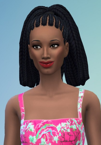 Birksches sims blog: Higher Braids for her for Sims 4