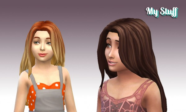 Mystufforigin: Gorgeous hairstyle for girls for Sims 4