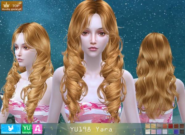 NewSea: YU198 Yara hair for Sims 4