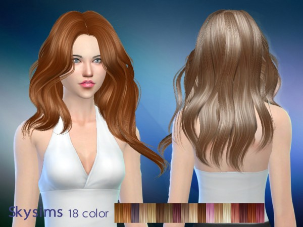 Butterflysims: Hair 289 by Skysims for Sims 4