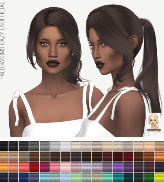 Miss Paraply: Cazy`s Unofficial hair retextured for Sims 4