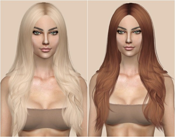 Kenzar Sims: Cazy`s Denial Hair Retextured for Sims 4