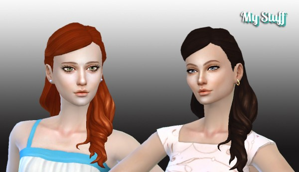 Mystufforigin: Sofia hairstyle for Sims 4