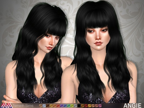 The Sims Resource: Angie Hair 20 by tsminh 3 for Sims 4